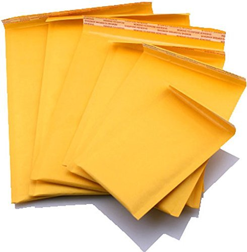 AbleMailer Kraft Bubble MAILERS Padded ENVELOPES SELF Seal Size #0, 00, 000, 1, 2, 3, 4, 5, 6, 7 (#00 (5x10), Qty: 250 Pack) (Able-KBM)