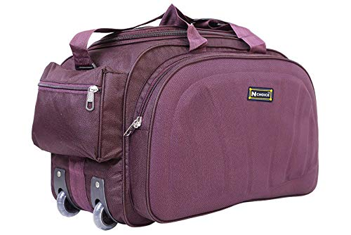 N Choice Unisex Polyester Purple 40 L Waterproof Lightweight Duffle...