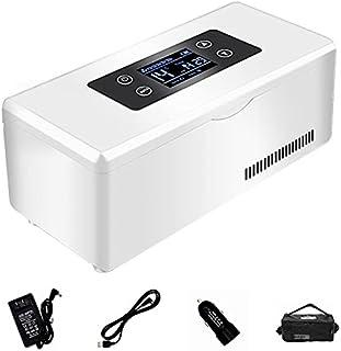 Mini läkemedel konstant temperatur kylskåp, inbyggt batteri Mini bärbar insulinkylbox för förvaring av diabetesläkare sval...