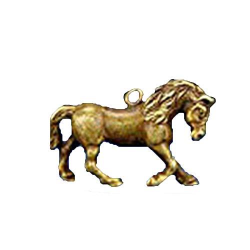 Chino colección antigua mano bronce Zodiac estatua caballo colgante