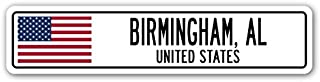 Birmingham, AL, United States Street Sign American Flag City Country Gift