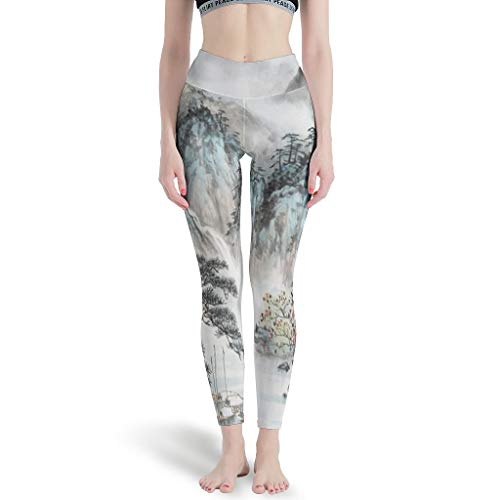 YOUYO Spark Pantalones de yoga chinos Land-Scape Pain-ting Slim Durable Diseño único - Pantalones cortos de playa para ciclismo