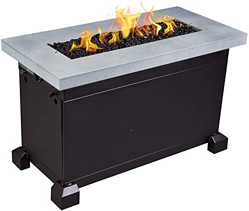 Camp Chef Monterey Fire Table (FP40G) with 600D Nylon Water Resistant Table Cover (PC40) - Bundle