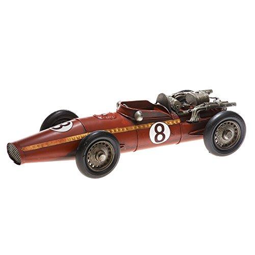 Pamer-Toys Maqueta de coche de chapa – en estilo retro antiguo – coche de carreras