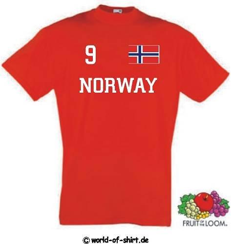 world-of-shirt Herren T-Shirt Norwegen/Norway im Trikot Look