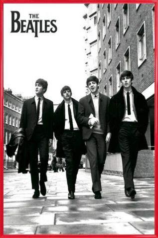 1art1 Los Beatles Póster con Marco (Plástico) - Fab Four En Londres (91 x 61cm)