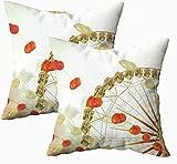 Fundas de almohada suaves, linternas y rueda de la noria vintage 45.7 x 45.7 cm, fundas de almohada para decoración del hogar, fundas de almohada con cremallera para sofá