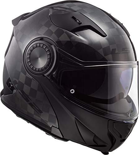 LS2 Casco moto FF313 VORTEX CARBON, Nero, XS