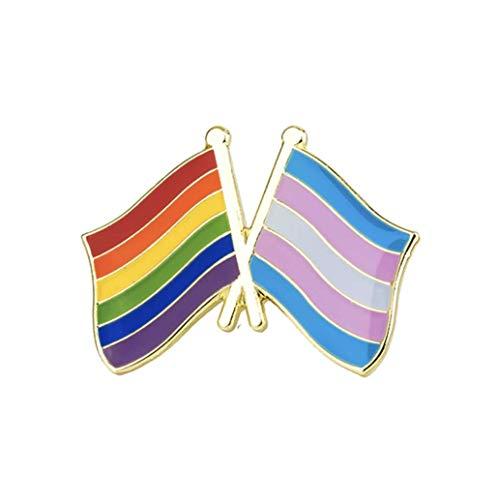 Patch Nation Lesbian Rainbow LBGTQ Trans Transgender Freundschaft Flagge Metall Button Badge Pin Pins Anstecker