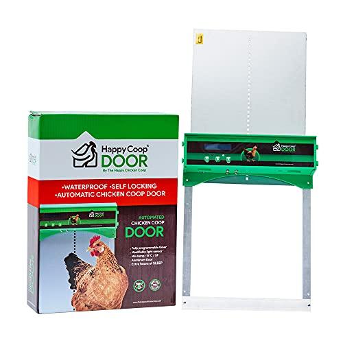 Happy Coop Door - Weatherproof Automatic Chicken...