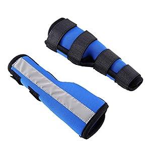 Fenteer 2pcs Hunde-Bandage Gelenkbandage zur Unterstützung und Stabilisierung während Ihrer Hundebeinverletzung - Blau, L