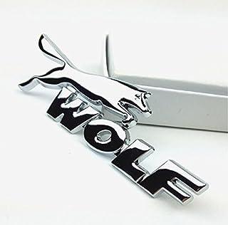 E861 Wolf Emblem Zeichen Badge auto Abziehbild aufkleber Car Sticker Metall Chrom