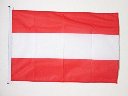 AZ FLAG BOOTFLAGGE ÖSTERREICH 45x30cm - ÖSTERREICHISCHE BOOTSFAHNE 30 x 45 cm Marine flaggen Top Qualität