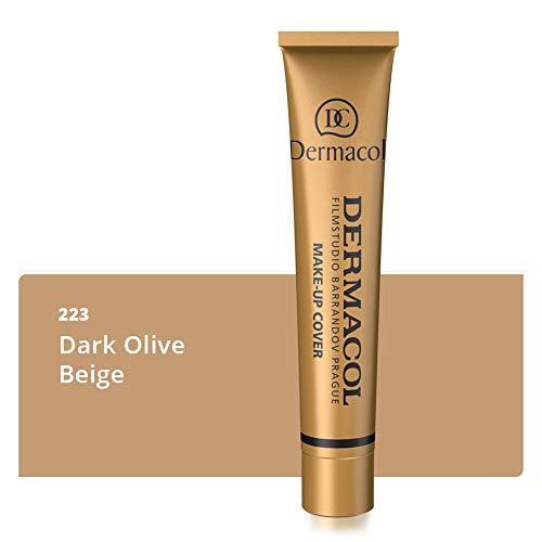 Dermacol DC Base Makeup Cover Total | Maquillaje Corrector Waterproof SPF 30 | Cubre Tatuajes, Cicatrices, Acné, Imperfecciones, Manchas en la Piel de la Cara y Cuerpo | Liquido - Mate Natural - 30g (223)
