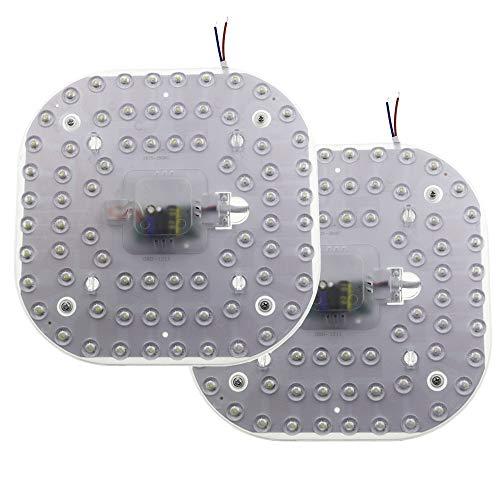 2er Pack LED Modul AC 165-265V 8.27 Zoll 36 Watt 3200 Lumen Umrüstsatz mit Magnethalterung für Deckenleuchte 6500K Kaltweiß, Nicht Dimmbar