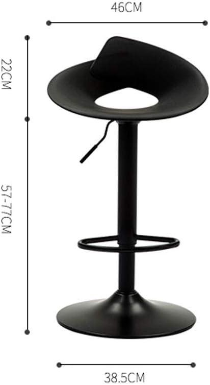 SLL- Tabouret de Bar rembourré en Cuir PU, Tabouret Haut antidérapant, Certification SGS, Levage de 57 à 77 cm Moderne (Color : I) D