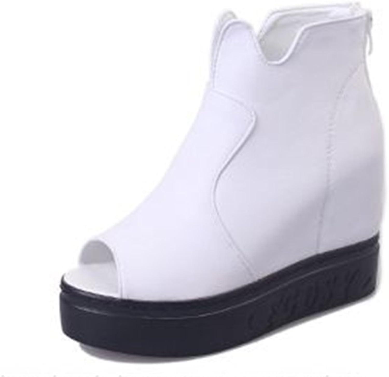 Bon Soir Womens Espadrille Platform Wedge Sandals Peep Toe Ankle Strap Buckle Mid Heel Summer Suede shoes