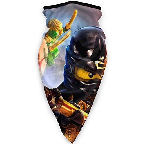 65469longshuo Bufanda tubo bufanda bandana diadema Leg_o Nin-Jago Wind-Resistant Face Cover Neck Gaiter Ski Masks Face Warmer for Running Motorcycling Hiking Black