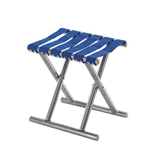 Tube Rond Pliant Tabouret De Pêche Léger Portable Mazar Camping en Plein Air BBQ Tabouret Hommes (Color : Blue, Size : 40)