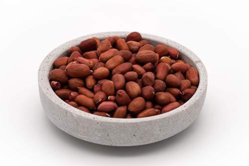 Cacahuetes orgánicos de comercio justo con piel roja - 1 kg - Sin tostar y sin sal - Alimentos crudos - De Uzbekistán