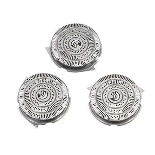 Cabezal de repuesto HQ9, compatible con la afeitadora eléctrica Philips 1000/1100/1200/320 serie s con hoja puntiaguda, no original (3 piezas)