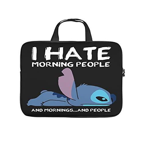Stitch i Hate Morgen Personas y Morgen und Morngen und Personal - Funda impermeable para portátil