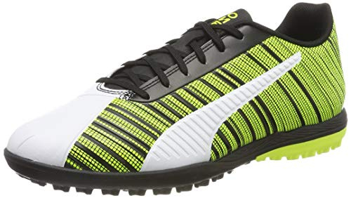PUMA Men's ONE 5.4 TT Football Boots, White Black-Yellow Alert, 10 UK 44.5 EU