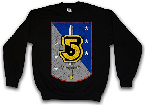 Urban Backwoods Vintage Army of Light Logo Sweatshirt Pullover Sweater Pull Noir Taille XL