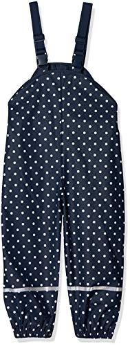 Playshoes Jungen Regenlatzhose mit Punkten Regenhose, Blau (Marine 11), (Herstellergröße: 104)