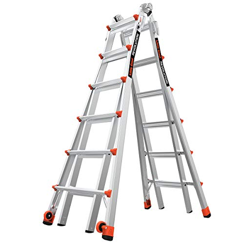 Little Giant Ladder Systems 12026 RevolutionXE, 26 Foot Multi-Use Ladder, Model, Aluminum/Orange