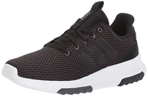 adidas Men's CF Racer TR Running Shoe, Utility Black/Black/White, 4 M US