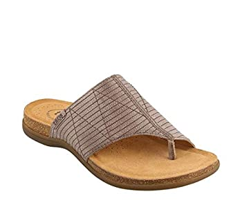 Taos Footwear Women s Rumor Grey Sandal 10 M