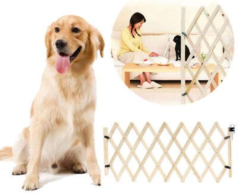 FidgetFidget Folding Safety Gate Fitted Baby for Dog Pet Isolation Gate Door Barrier Wooden