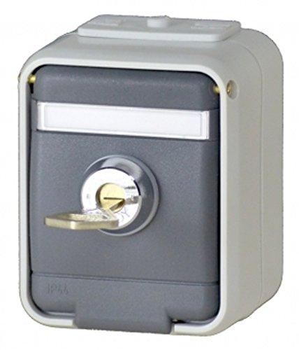 Elso 455019 16A AquaTop licht/basaltgrijs stopcontact, 250 V