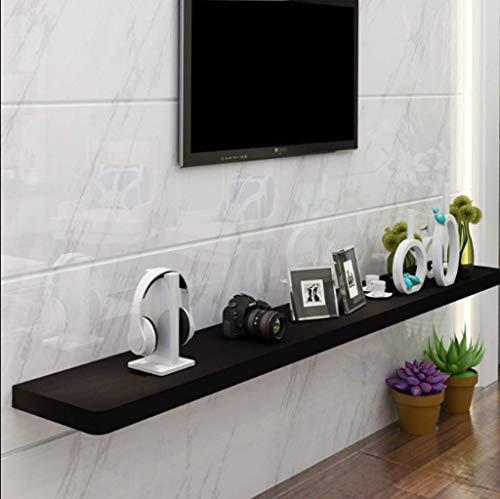 FHKBB étagère Flottante Étagère Murale Flottante Meuble TV Meuble TV Set Top Box Étagère Console TV Unité de Rangement Organisateur Étagère pour DVD Cable Box (Couleur: B, Taille: 60CM)