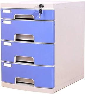 WHLONG Fichier Bureau Armoire de Bureau Boîte de Rangement en Plastique Multi-Couche avec des armoires de fichier Plat de ...