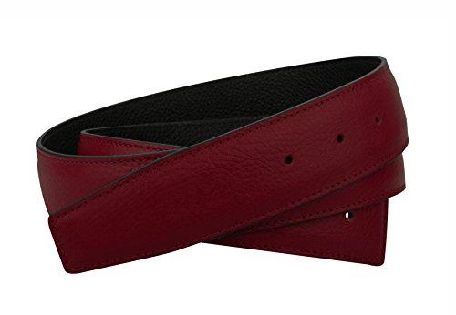 Erdi Ünver Bordo Wendegürtel in echt Leder für Herren & Damen 31mm Breiter Gürtel in Rot (110 cm)