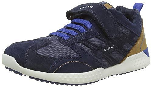 Geox Jungen J Snake.2 Boy A Sneaker, Blau (Navy/Royal C4226), 33 EU