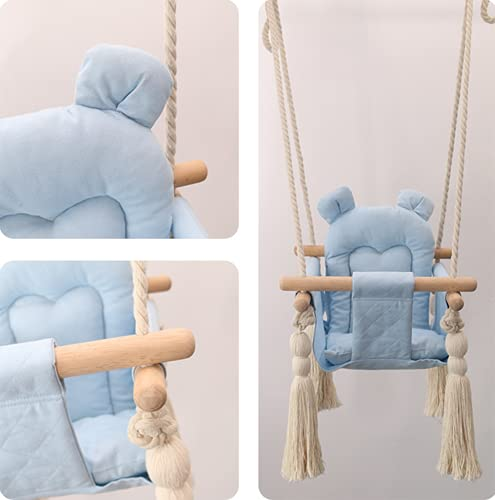 JJZXLQ Hanging Swing Seat Chair, Hanging Hammock Chair Swing Seat Nordic Style Thicken Outdoor Indoor Garden Camping Travel use for Infants