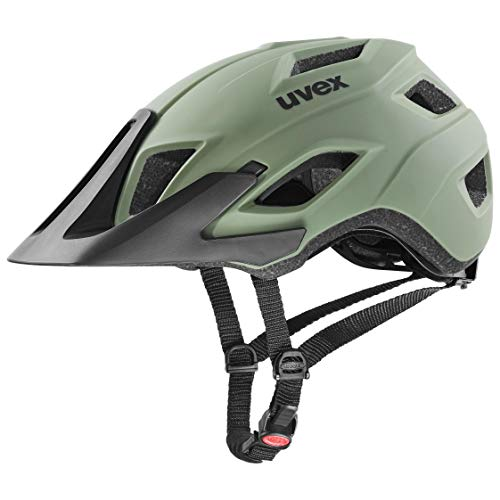 uvex Unisex– Erwachsene Access Fahrradhelm, Olive-Black mat, 52-57 cm