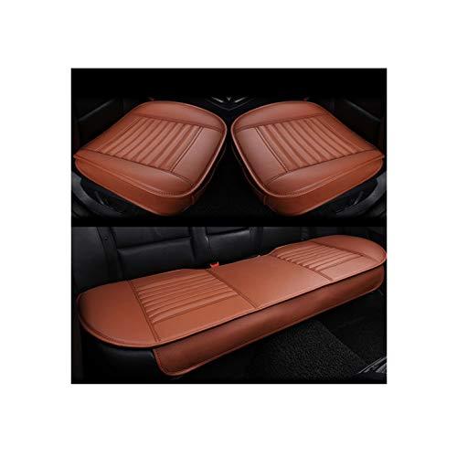 GUOCU Weich Autositzüberzug Kissen Pad Matte Schutz für Autozubehör für Limousine Fließheck SUV,Orange,Vordersitz & Rücksitz