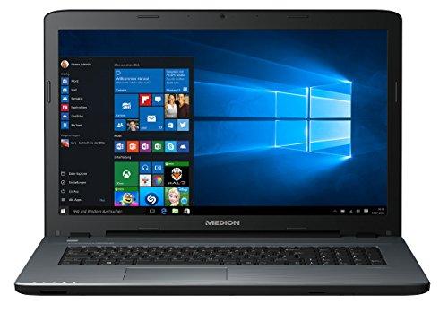 Medion Akoya P7645 - Ordenador portátil (43,9 cm/17,3 pulgadas, pantalla Full HD, Intel Core i7 7500U, 8 GB de RAM, disco duro de 1,5 TB, SSD de 128 GB, NVIDIA GeForce, Windows 10), color plateado