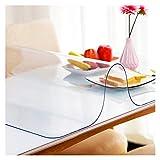 PVC Plastico Manteles Protección de Escritorio Alta Definición Protección Integral Anti-Quemaduras Salud Tapete de Mesa por Comedor Mesilla de Noche ALGFree (Color : Clear-1mm, Size : 80cmX80cm)