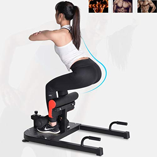 PSHH Multifunktionales Squat-Rack, Squat-Hocker Für Das Heimgewichtstraining, Einstellbares Squat-Trainingsgerät, Push-up-Stützrahmen Für Den Innenbereich (Color : Black, Size : 100 * 50 * 40-50cm)
