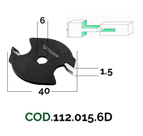 Scheibennutfräser für Schlitze in Fälzen - D 40 / I 1.5 / S 6 - Holzfräser für Oberfräse | Fraiser