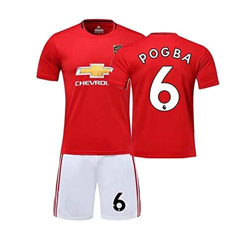 Crstal Pogba 6# Fußball-T-Shirt 19/20 Trikot Shorts und Socken Kinder und Jugend Größe (Size:Mittel)