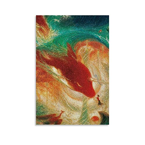 Póster decorativo de Big Fish Begonia para pared, para sala de estar, dormitorio, 20 x 30 cm