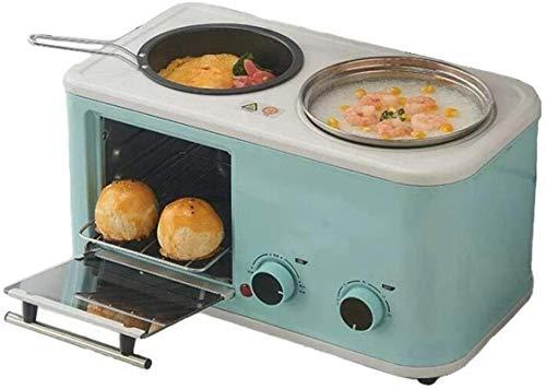 Tostadora horno eléctrico horno pequeño horno eléctrico 3 en 1 hogar desayuno...