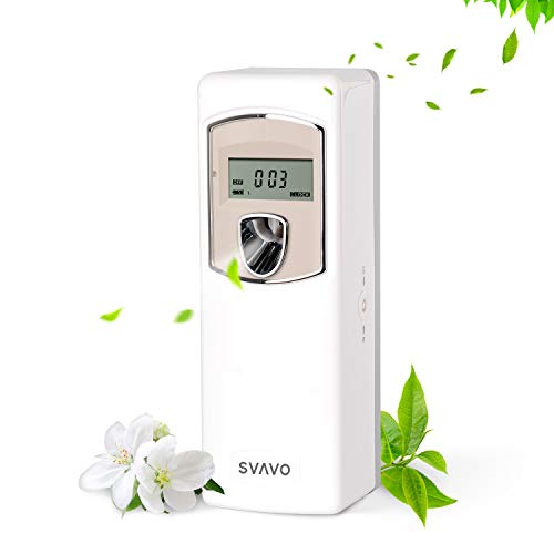 Jacaband Automatic Air Freshener Dispenser LCD Display Wall Mount Free Standing Auto LCD Air Fragrance Spray Dispenser Aerosol Dispenser Programmable Air Fresheners for Home Room Offices Hotel