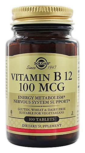 Solgar Vitamina B12 µg Comprimidos - Envase De, Multicolor, One size, Vanilla, 100 Unidad